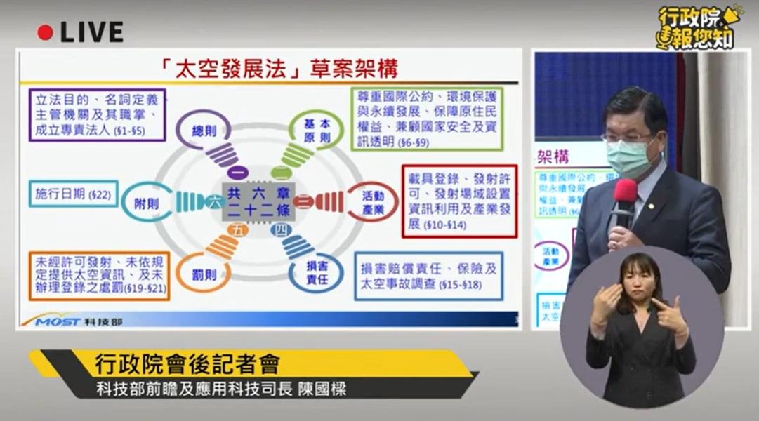 前進宇宙!台灣首部「太空發展法」今出爐